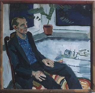 Painting of Sven-Åke Johansson